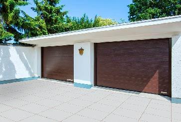 garagepoort bruin woodgrain