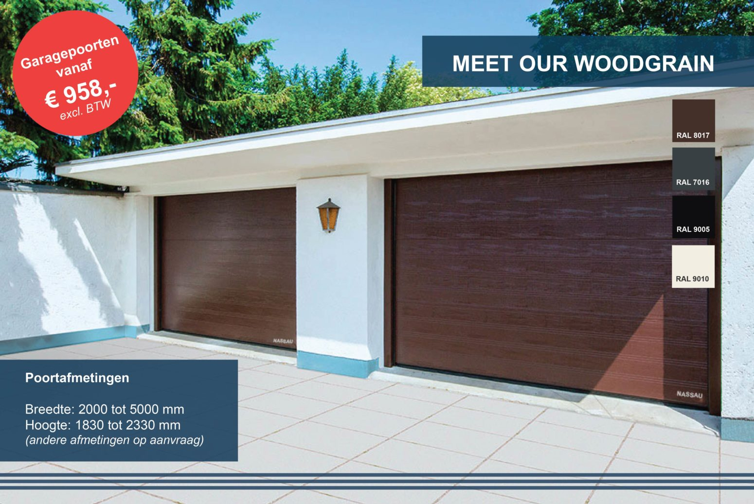 woodgrain garagepoort