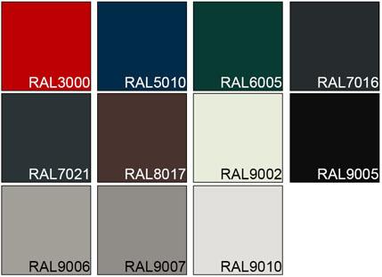 standaard kleuren 2019