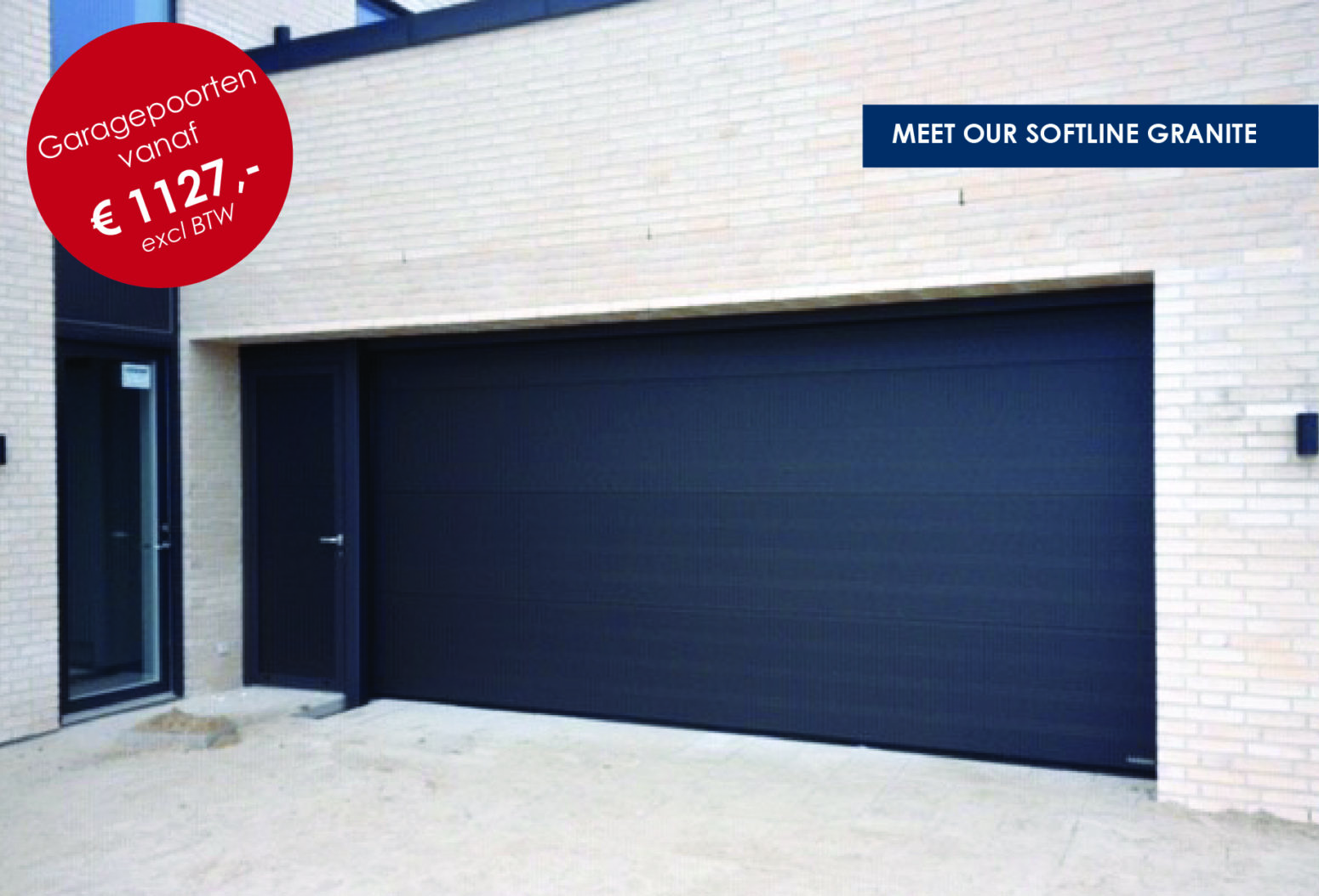 Garagepoorten Softline Granite NASSAU Door be